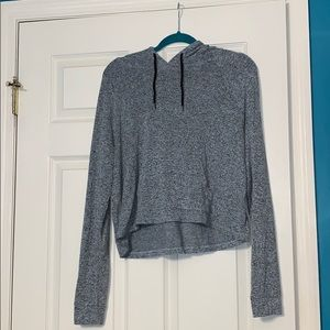 Grey hooded shirt